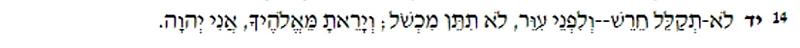 Lev 19:14
