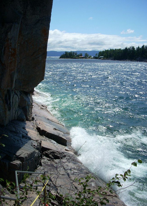 Rock face on Lake Superior