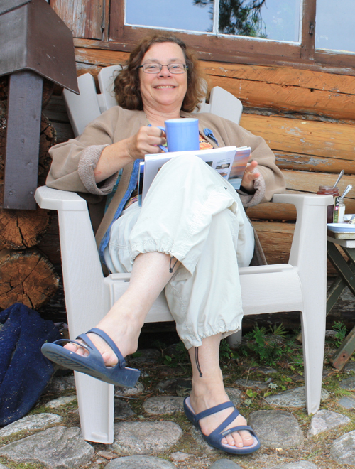 Nancy with Coffee