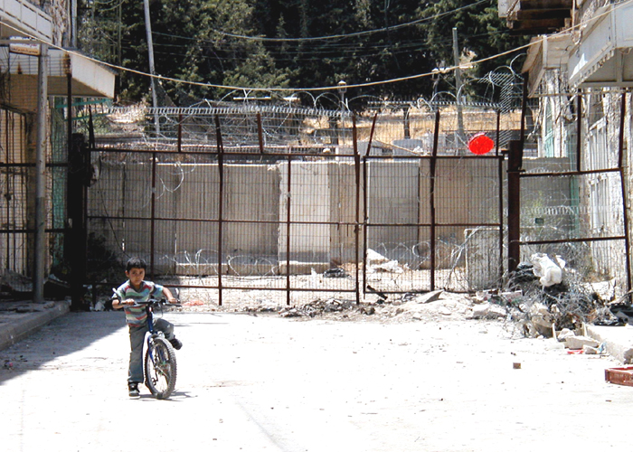 Blocked Street in Hebron